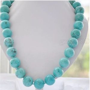 Jewelry - Natural 10mm Turquoise Necklace